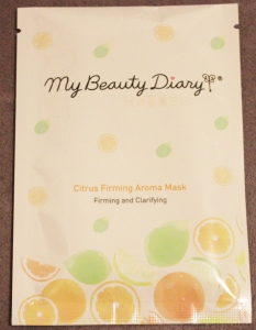 My Beauty Diary: Citrus Firming Aroma Mask